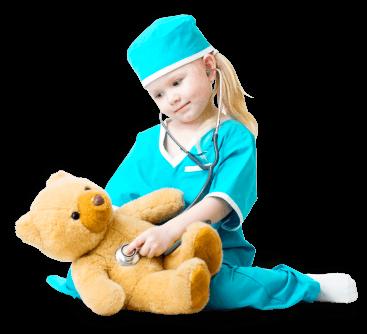 cute girl holding a teddy bear